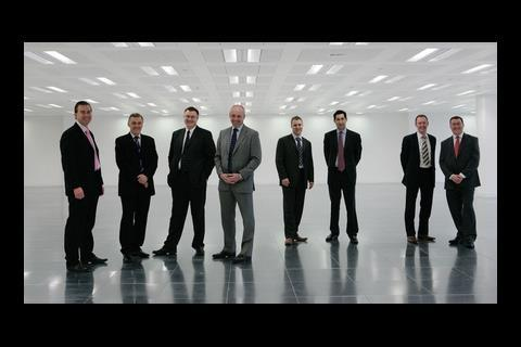 From left to right: Andy Tooley, Paul Gredley,  Steve Oakford, Martin Price, Paul Norman, Andy Marr, Wayne Ramson, Nigel Bellamy